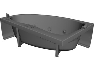 Bathtub CAD 3D Model