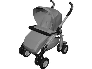 children Baby Carriage 3D Model