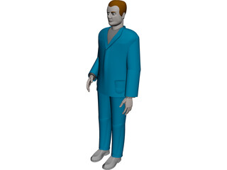 Man Worker CAD 3D Model