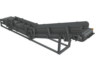 Chain Conveyor CAD 3D Model