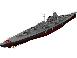 Battleship Tirpitz 3D Model