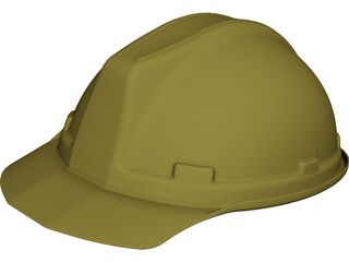 Worker Helmet CAD 3D Model