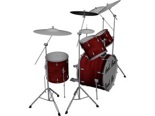Pearl Drum Kit 3D Model