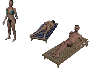 People Beach Collection 3D Model