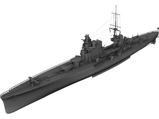 Gorizia class Heavy Cruiser 3D Model