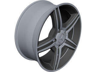 Mercedes-Benz AMG Alloy Wheel CAD 3D Model