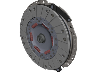 Clutch Assembly CAD 3D Model