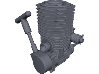 Force .38CNC Nitro Engine CAD 3D Model