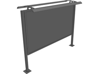 Billboard CAD 3D Model