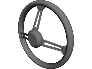 MOMO Steering Wheel CAD 3D Model