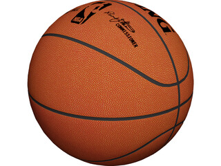 NBA Spalding Basketball Ball 3D Model