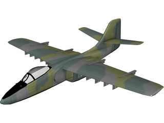 Northrop YA-9A 3D Model 3D Preview