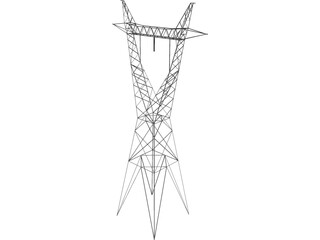 Transmission Tower 735kV 3D Model