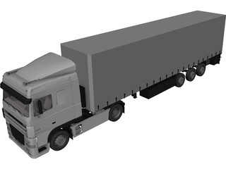 DAF XF 3D Model 3D Preview