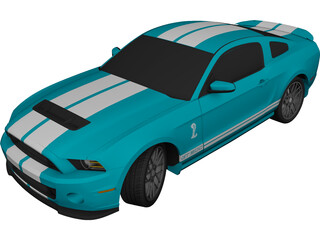 Ford Mustang Shelby GT500 (2013) 3D Model
