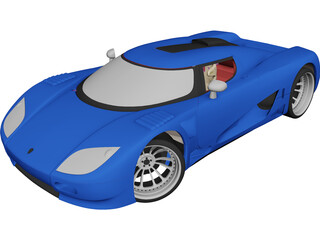 Koenigsegg CC (2008) 3D Model