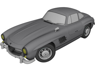 Mercedes-Benz 300SL Gullwing 3D Model