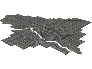 Lauderdale Downtown Fort 3D Model
