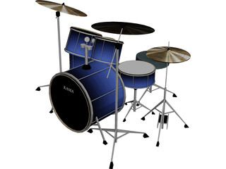Kama Custom Drumkit 3D Model
