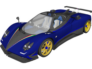 Pagani Zonda Tricolore 3D Model