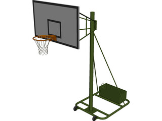 Basketball Rack 3D Model