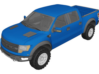 Ford F-150 SVT Raptor (2010) 3D Model