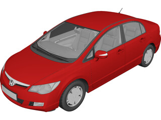 Honda Civic Sedan VIII 3D Model