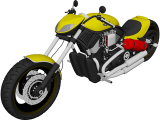 Harley-Davidson Custom 3D Model