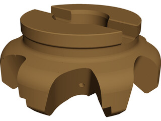 Face Mill CAD 3D Model