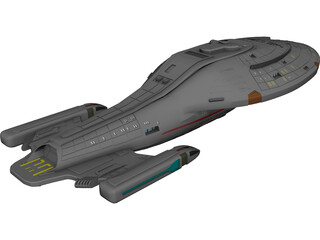 Star Trek USS Voyager 3D Model