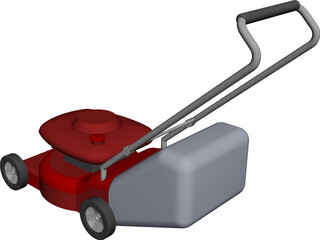 Lawn Mower CAD 3D Model