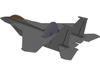 F-15 Eagle RC Foamy CAD 3D Model