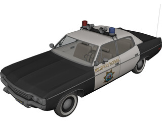 AMC Matador Highway Patrol Car 3D Model