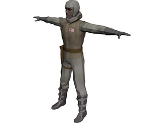 Star Wars Hoth Soldier 3D Model