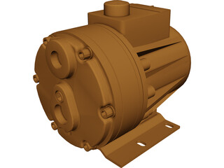 Hydracell D10 Pump CAD 3D Model