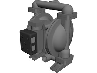 Double Diaphragm Pump CAD 3D Model
