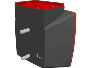 Trailer Tail Light 3D Model