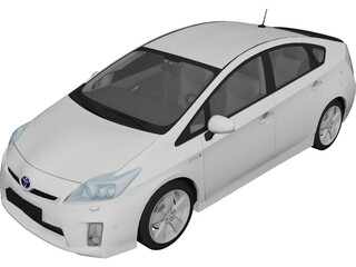 Toyota Prius (2010) 3D Model 3D Preview