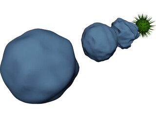 Cytology Cells Virus 3D Model