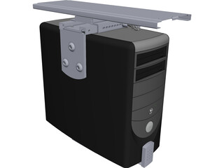 PC Desktop Case CAD 3D Model