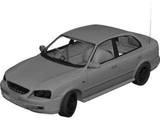 Hyundai Accent (2000) 3D Model