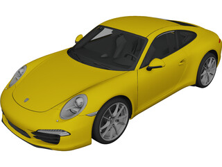 Porsche 911 991 Carrera Coupe 3D Model