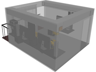 Office Small Design Studio 3D Model
