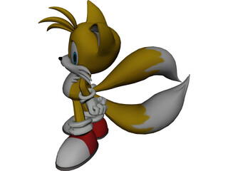 Tails Sonic 3D Model