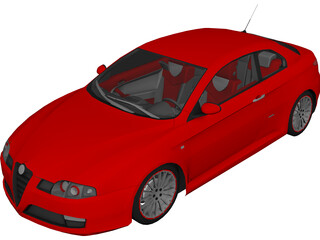 Alfa Romeo GT 3D Model 3D Preview