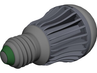 LED Light Bulb Type D CAD 3D Model
