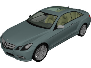 Mercedes-Benz E500 C207 Coupe 3D Model