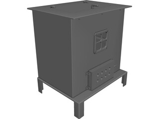 Wood Stove CAD 3D Model
