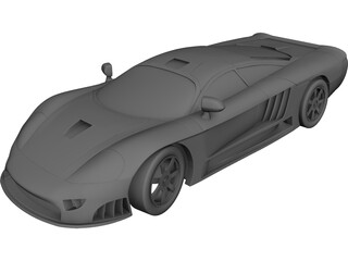 Supercar CAD 3D Model