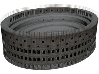 Roman Coliseum Low Poly 3D Model